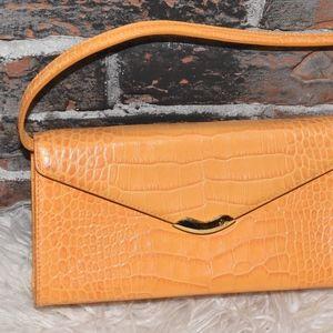 Lauren Ralph Lauren Orange Leather Bag Clutch